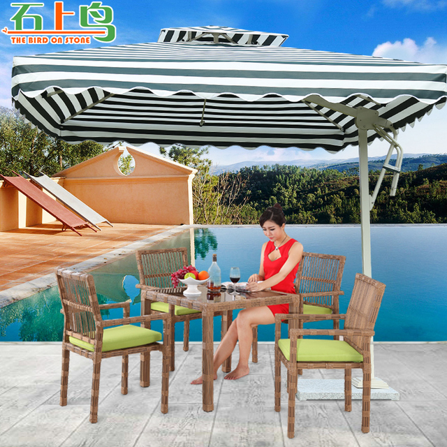 Genial Outdoor Furniture, Umbrella Rome Patio Large Foreign Table Umbrellas And  Beach Security Guard Post
