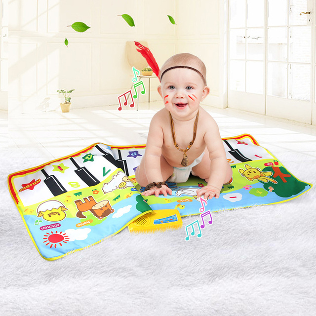 58x135cm  Musical Carpet Mat Educational Toys Animals Voice Touch Play  Piano For Kids Big Size  Funny Learning Singing  Mat