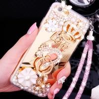 Luxury Mirror Diamond Cover Case For Xiaomi Redmi Note 5A 4X 4A 3 4 Customize Case