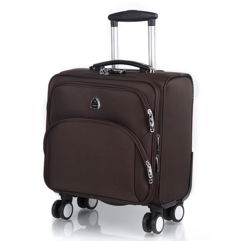 Commercial universal wheels trolley luggage travel bag luggage male soft box oxford fabric 16 female luggage suitcase