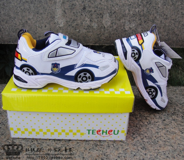 Sport Shoes Handsome White Police Car Shoes Four Seasons Car Shoes
