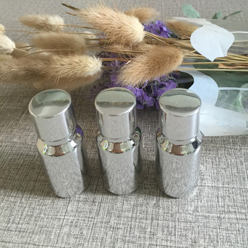 50pieces/lot 10ml High temperature glass silver plated dropper bottle,empty 10 ml glass essentical oil container wholesale
