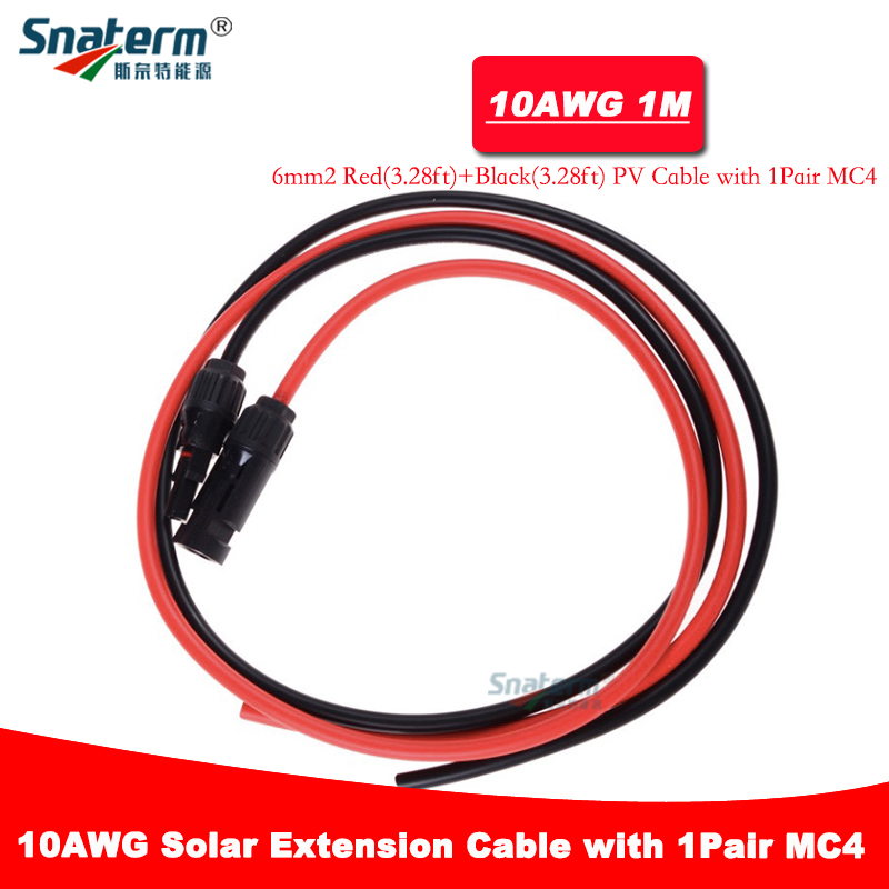 Spirited 1 Pair 1 Meter Mc4 Solar Cable Connector Solar Pv Cable Copper Wire With Mc4 Connector Extension Cable 6/4/2.5mm2 10/12/14 Awg Lighting Accessories