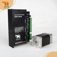 цена на 3D CNC Wantai Nema 17 Brushless DC Motor 4000RPM, 24VDC,26W,3phs 42BLF01& Driver BLDC-8015A, 80VDC,5000RPM Peak