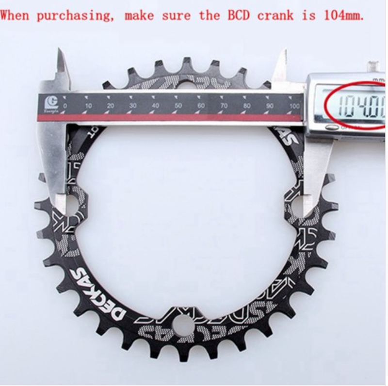 DECKAS 32T MTB Mountain XC Bike Narrow Wide Round Chainring Chain Ring BCD 104mm