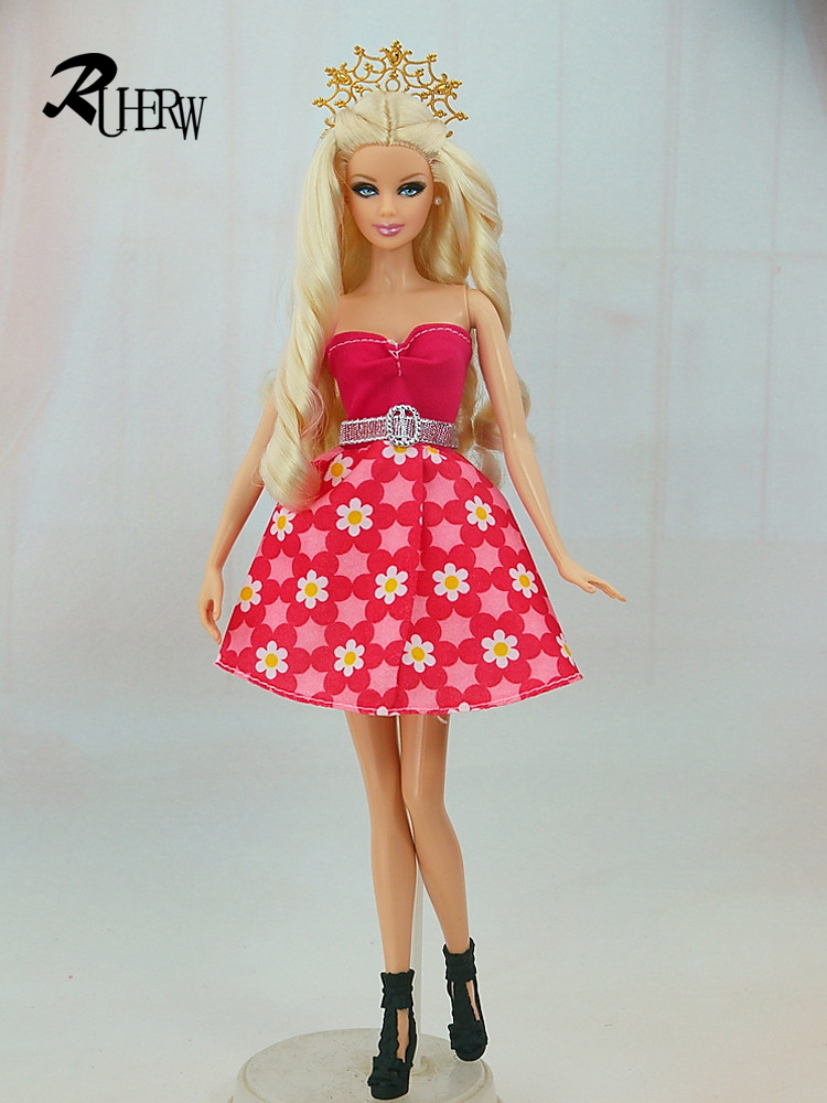 5-Pcs-Handmade-fashion-clothes-For-Barbie-Doll-dress-baby-girl-birthday-new-year-present-for-kids-1