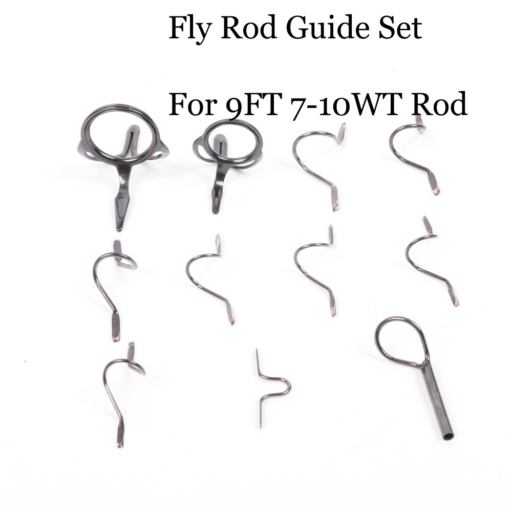 Maxcatch new fly fishing rod guides for 7wt 10wt tip for Fishing rod guides replacement