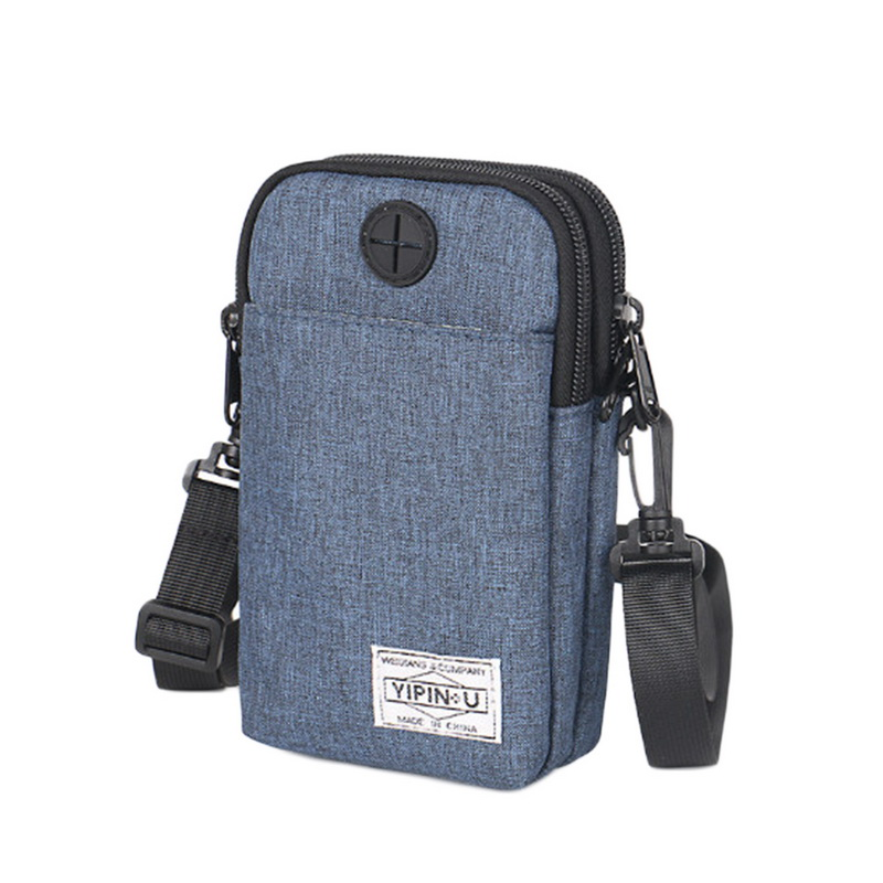 Clearance Unisex Fashion Mini Mobile Phone Bag Outdoor Waterproof Casual    Zipper Solid Color   Bag