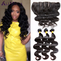 Malaysian Virgin Hair With Closure Full Lace Closure Ear To Ear With Bundles Malaysian Body Wave With Frontal Closure