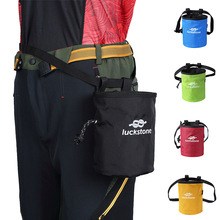 лучшая цена 5 Colors Bouldering Climbing Waist Hanging Magnesium Powder Bag Gymnastics Fitness Single Parallel Bars Anti-skid Powder Bag