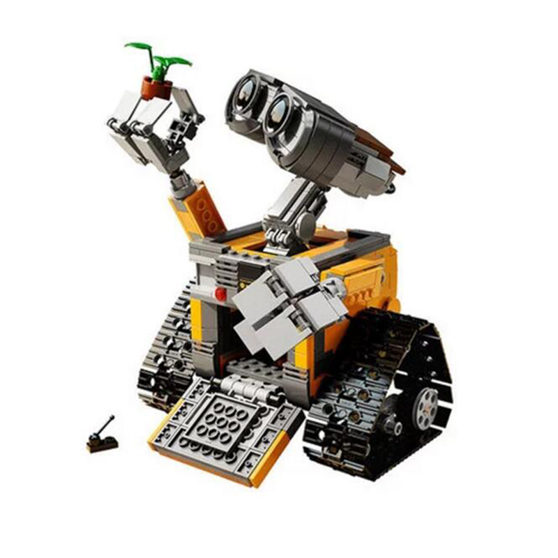 ФОТО 2016 lepin 16003 idea robot wall e building blocks minifigures bricks blocks toys for children wall-e birthday gifts