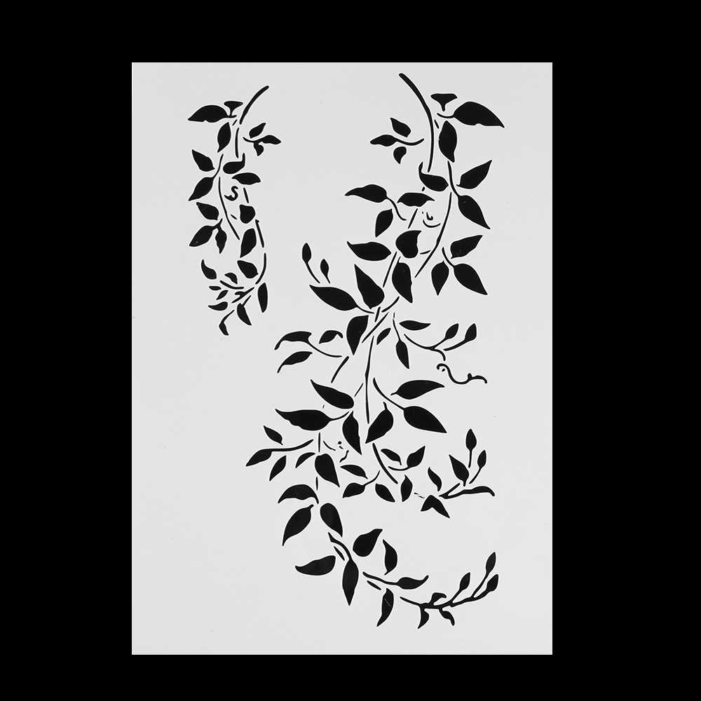 long branch Stencils For Wall Painting Scrapbooking Stamping Stamp Album Decorative Embossing Paper Card Flower Template