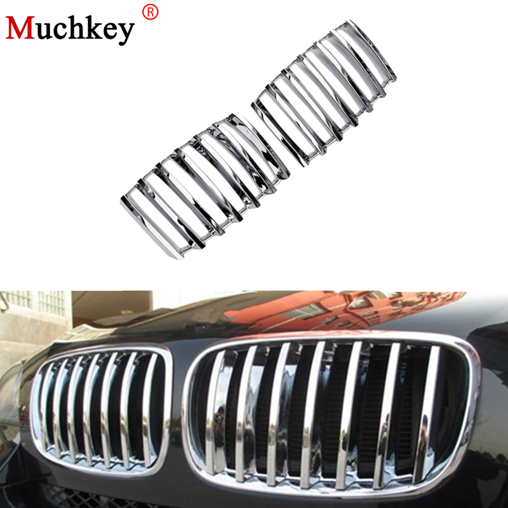 Chrome Front Grille Vent Hole Frame Trim Cover For BMW X5 E70 2008 2009 2010 2011 2012 2013 Chrome 2pcs Per Set in Car Stickers from Automobiles Motorcycles