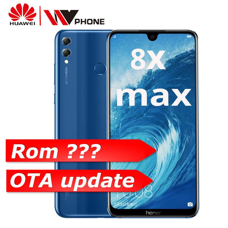 Huawe Honor 8X Max 7.12'' big Screen OTA update Smartphone Dual Camera Android 8.1 Octa Core 4900mAh battery fingerprint ID
