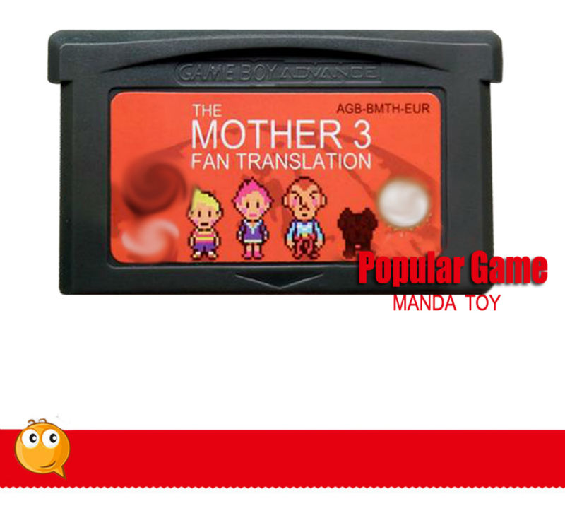 US $415 0 |100pcs/lot RED shell Game Cartridge Mother 3 1 2 Version English  Sticker Language Earthbound Games Card FREE SHIPPING-in Learning Machines