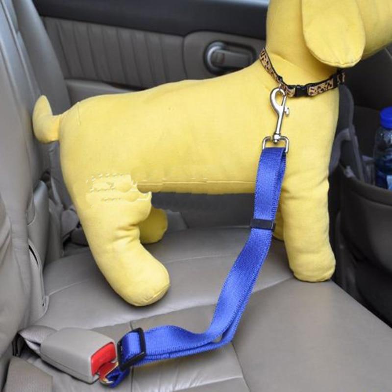 Gyvūnų šunų saugos diržas Transporto priemonės saugos diržas Kelionių šunų kačių priedai Clip Lead Restraint Harness traction Naujas reguliuojamas laidas 10