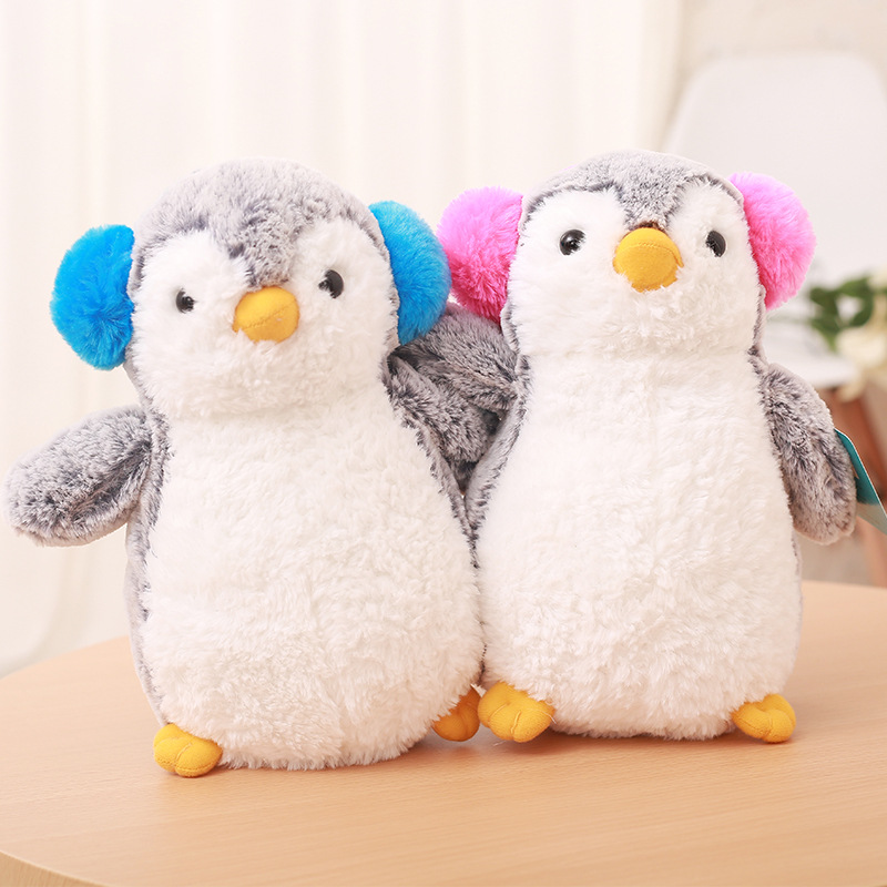 25CM 0-3 Year Old Kids Toy Kawaii Cotton Plush Stuffed Penguin Toy Pink & Blue Doll Birthday Christmas Gift Comforting Doll stuffed animal 44 cm plush standing cow toy simulation dairy cattle doll great gift w501