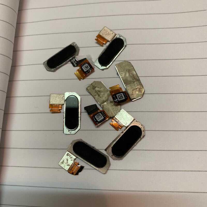 1 pièces 100% testé OEM Scanner d'empreintes digitales Flex accueil bouton pour Xiaomi noir requin 1