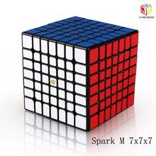 XMD Qiyi X-Man дизайн Spark and Spark M 7x7x7 Магнитный куб профессиональный Mofangge 7x7 магический скоростной куб твист развивающие игрушки