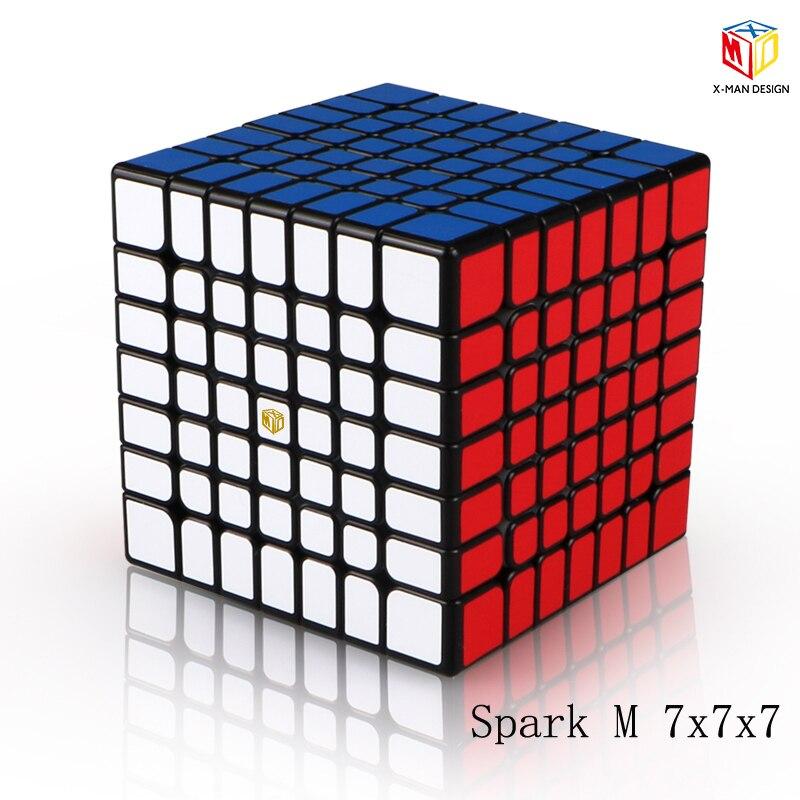 Plus récent Qiyi x-man conception étincelle et étincelle M 7X7x7 Cube magnétique professionnel Mofangge 7x7 magique vitesse Cube torsion jouets éducatifs