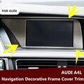 Interior Dashboard Navigation GPS Decorative Frame Cover Trim For Audi A4 B8 2013-2015 1Pcs