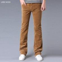 Весна осень мужские облегающие вельветовые расклешенные брюки мужские повседневные вельветовые расклешенные брюки клеш мужские черные красные коричневые хаки