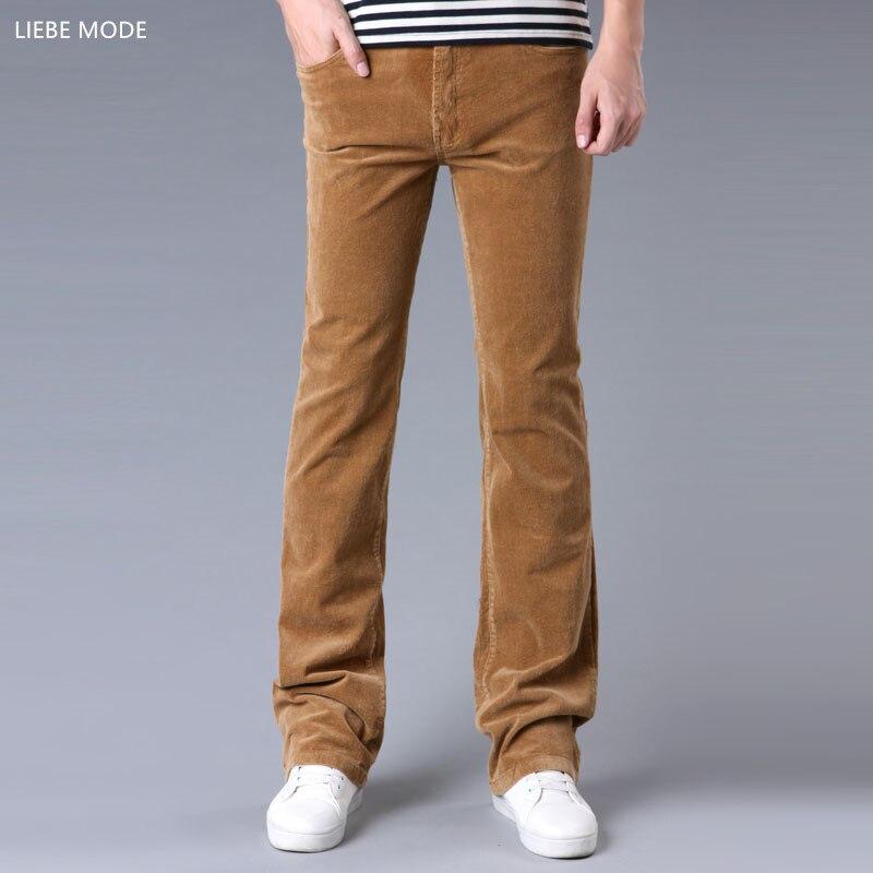 2017 Spring Autumn Mens Fashion Flared Corduroy Trousers ...
