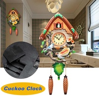 Silent Mini Cuckoo Clock Wall Clock Living Room Bird Alarm Clock Watch Hanging Wooden Bell Pointer Home Decor