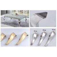 2Pcs Shiny Gold Stainless Steel Furniture Bath Tea Coffee Stool Bar Sofa Chair Leg Legs Feet S Snake European