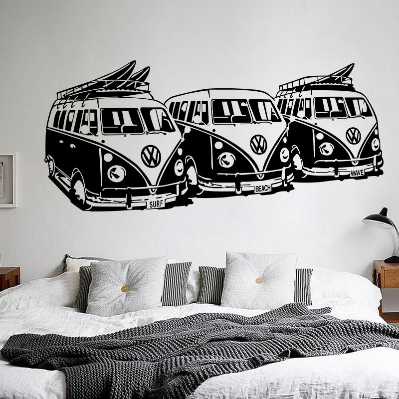 3D Wallpapers car Pattern Wall Stickers Bedroom Decoration Living Room TV Background Waterproof Car Murals