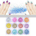 Best Deal! 12 Color 3D Max Nail Art Glitter powder Decorations Velvet Flocking nail gliter pigments for UV Gel Manicure Design