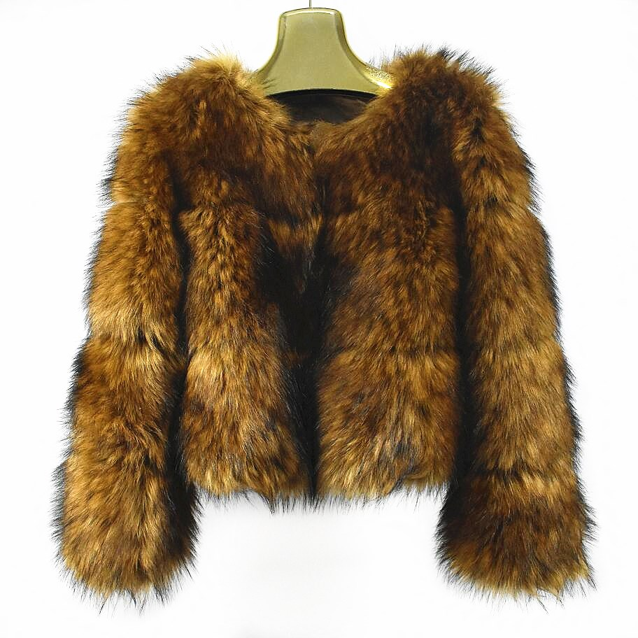 Européen Imitation Chaud Color Des De 2018women's Nouvelle Manteau True D'hiver Veste Fourrure Raton Style Street Mode Casual Femmes Laveur Court f5PPZqpx