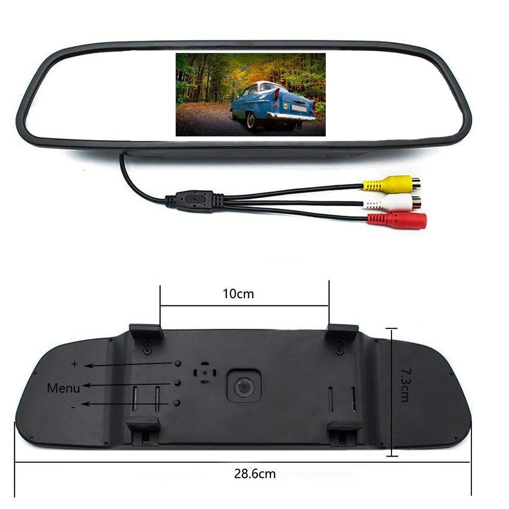 OTERLEEK 4,3 дюймов 2 видео входа с номерным знаком ЕС Складной автомобильный монитор TFT-LCD HD камеры обратная камера парковочная система