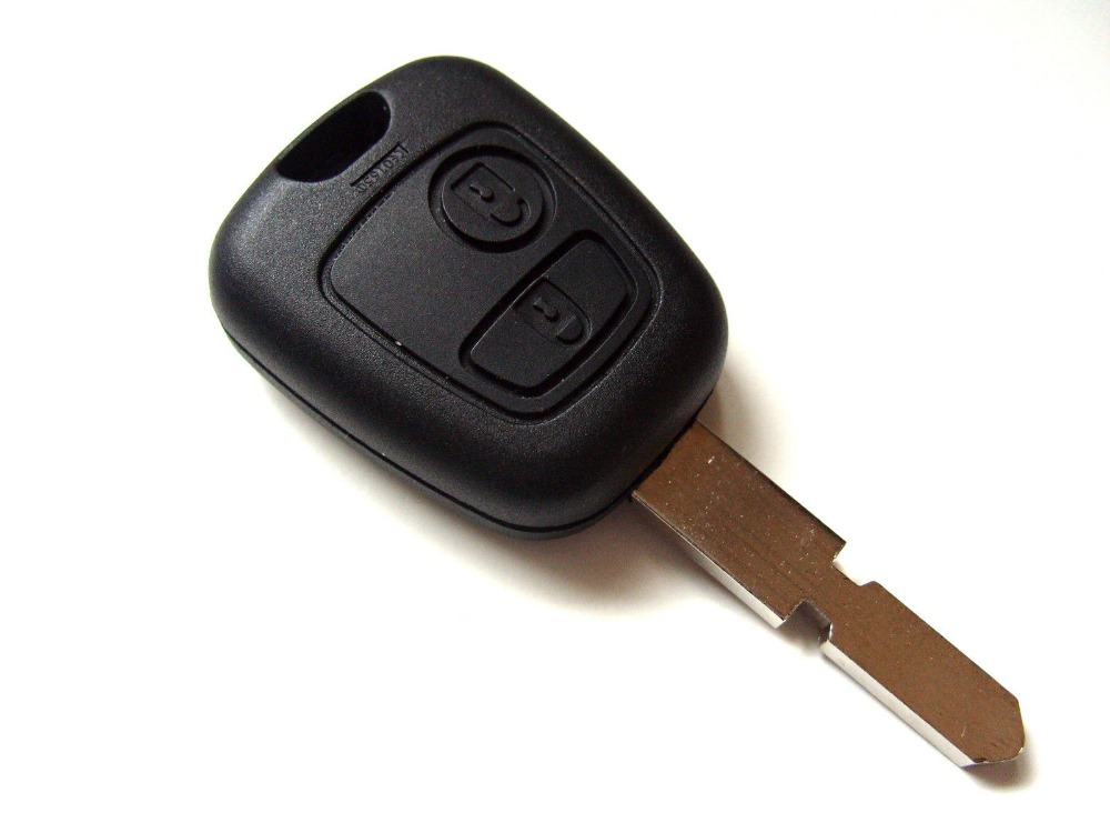 For Peugeot 406 2 Button Remote Key Fob Blank Key Blade