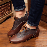 Sneakers Sports Dance Shoes Modern Genuine Leather Latin shoes For Men and Boy Brown Wear resisting Non slip Snakeskin grain 4