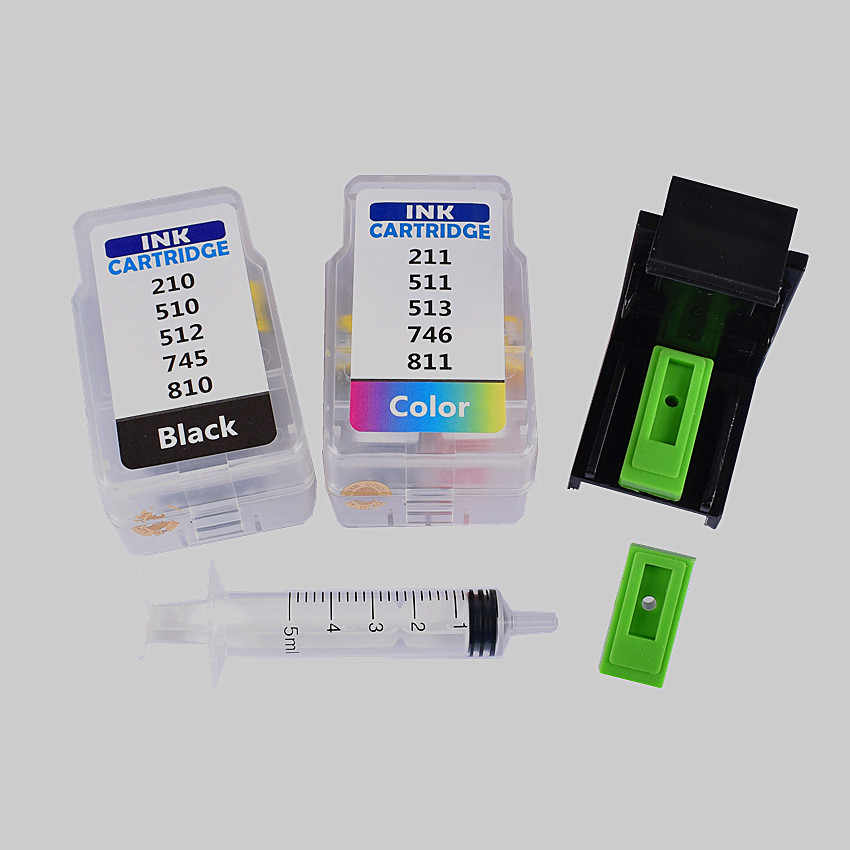 Smart cartridge rifll kit para canon PG 512 CL 513 cartucho de tinta Para canon pixma MP280 MP282 MP330 MP480 MP490 MP492 MP495 MP499
