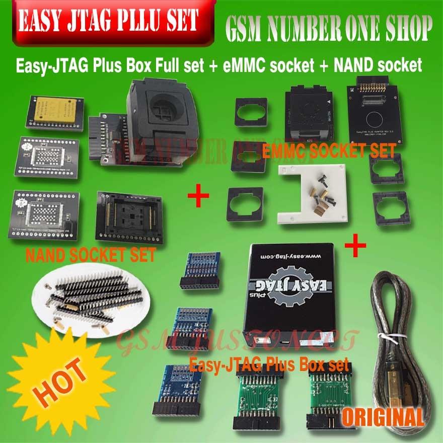 New version Full set Easy Jtag plus box Easy-Jtag plus box+ EMMC socket +NAND socket