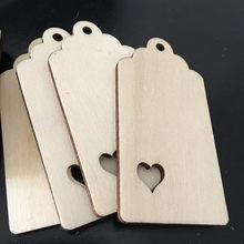 10 etiquetas de madeira de kraft dos pces etiquetas do cair do ofício com fio da juta, etiquetas graváveis da exposiço para presentes, etiquetas do dia dos namorados do casamento