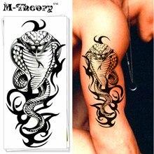 M-Theory 3D Cobra Snake Temporary Body Makeup 3d Tattoos Sticker Henna Flash Tatoos Tatouage Body Arts Tatto Tatuagem Sticker