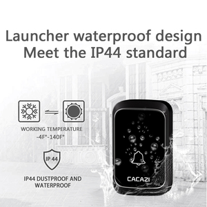 Image 2 - CACAZI NEW Home Waterproof Wireless Doorbell LED Light Battery Button Cordless Calling Bell 300M Remote Have 4 Volume 58 Chime