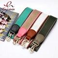 New arrival classic fashion pu leather stitching canvas hit color ladies handbag shoulder strap belt bag accessories bag parts