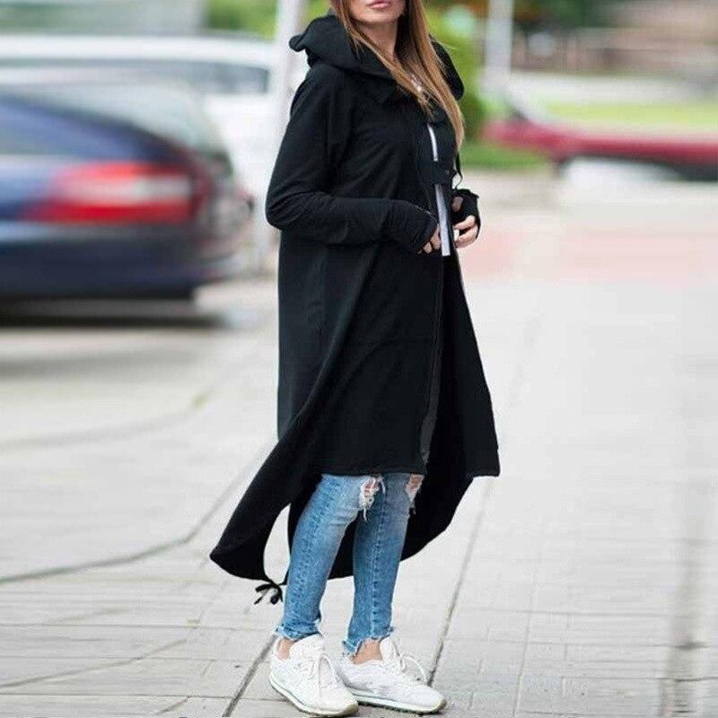 Décontracté sweats à capuche zippés Sweat-Shirt Sweatshirt à capuche long veste d'extérieur grande taille
