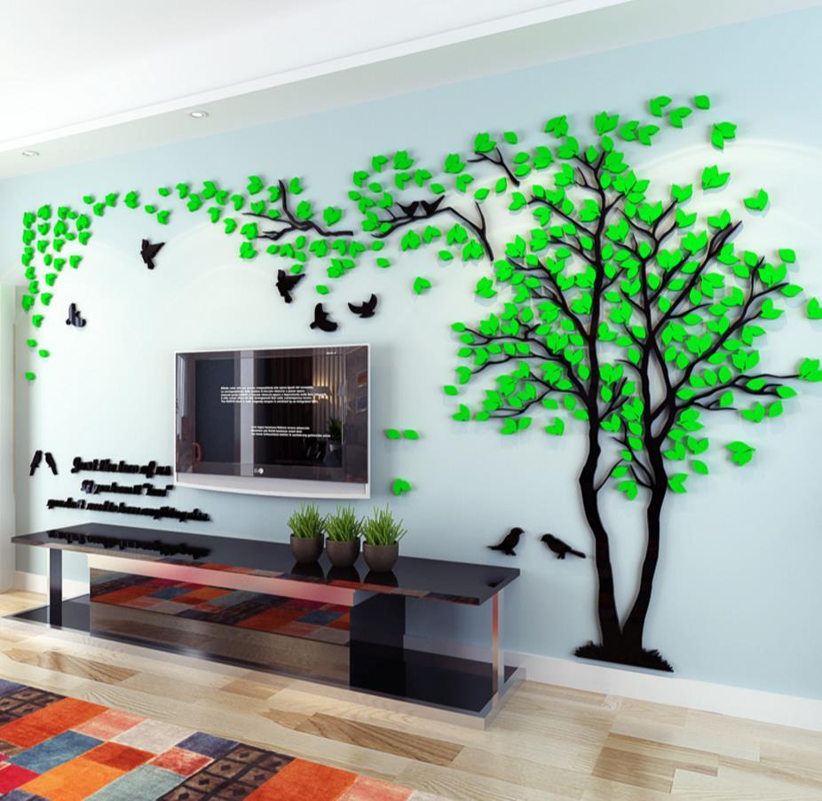 Online-Shop Kreative 3 d baum acryl wandaufkleber wohnzimmer sofa ...