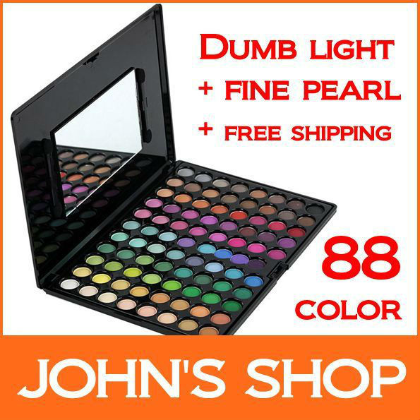 Wholesale - 88 Color Eye Shadow Tray -  Honed + Fine Pearl Make Up Simple Eye Shadow Necessary