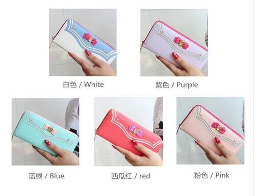 7 style sailor moon wallet 20th Anniversary Limited Edition Ladies Long Zipper Female Bag Women Leather Wallet Purse girl mary pope osborne magic tree house 20th anniversary edition dinosaurs before dark