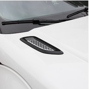 Image 4 - Car Accessory For Land Rover Discovery Sport LR4 For Range Rover Evoque Vogue Hood Air Vent Outlet Wing Trim Stickers 2pcs