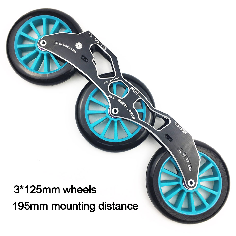 JEERKOOL Inline Slalom Slide Roller Skates Frame 3*125mm Wheels Aluminum Alloy Skating Base 85A Wheel Skates Basin DJ53 slalom fsk inline skates patines for adults daily skating sports with 85a pu wheels abec 7 bearing aluminium alloy frame base