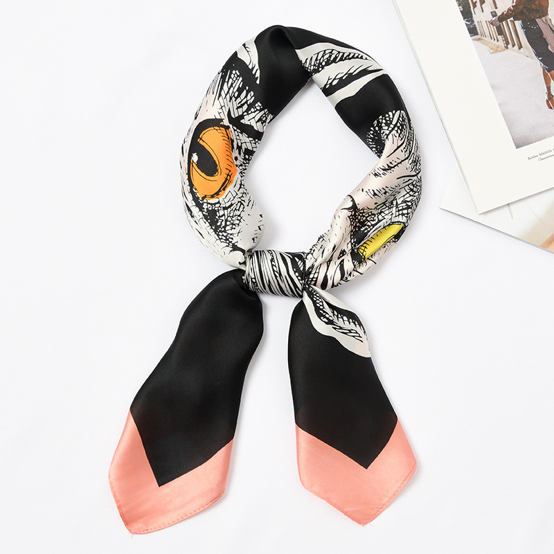 Women Square Silk Scarf Print Foulard Female Stylish Silky Small Bandana Neckwear [3908]