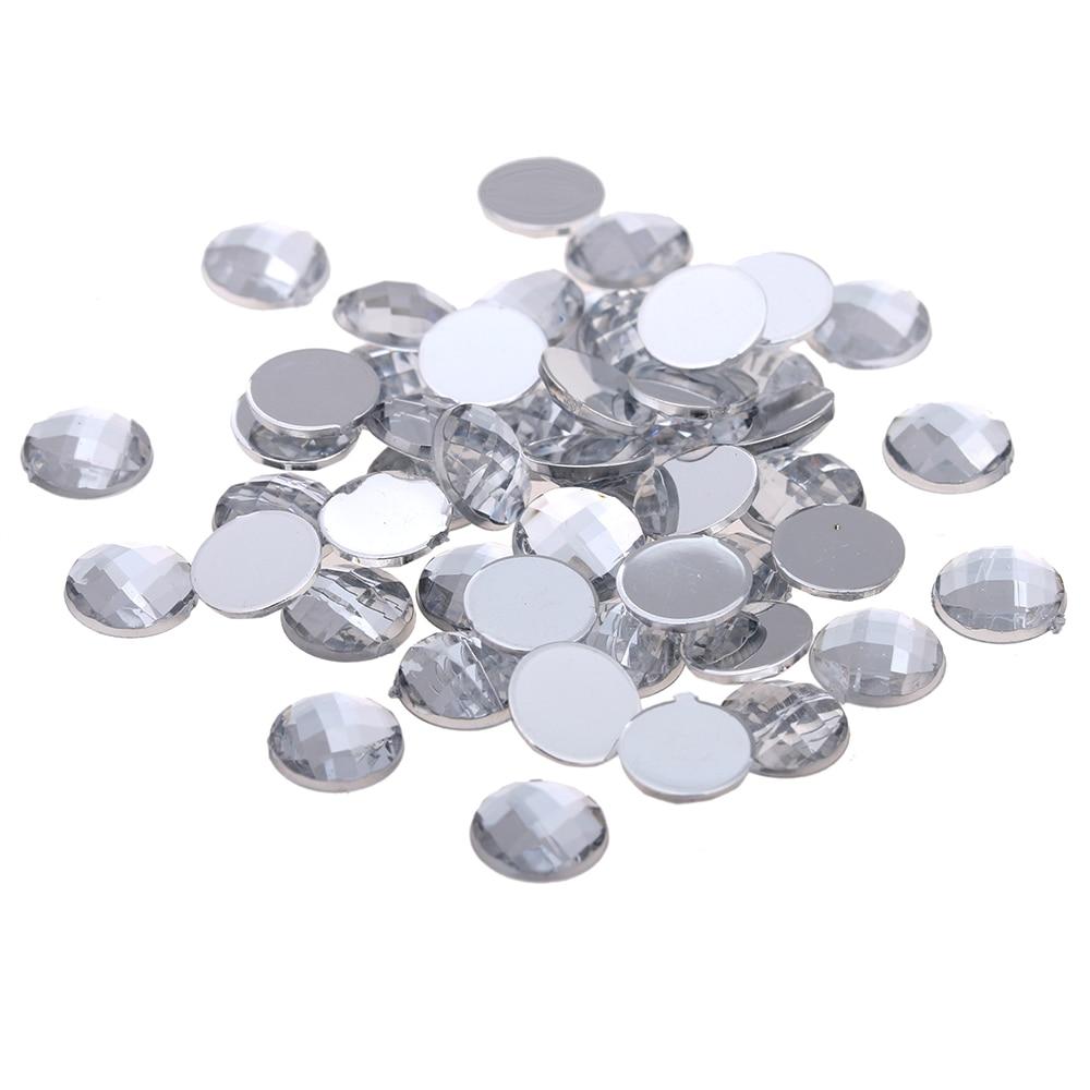 200pcs of 12mm Iron On Hot fix Crystal Rhinestones Diamond  Acrylic Crafts