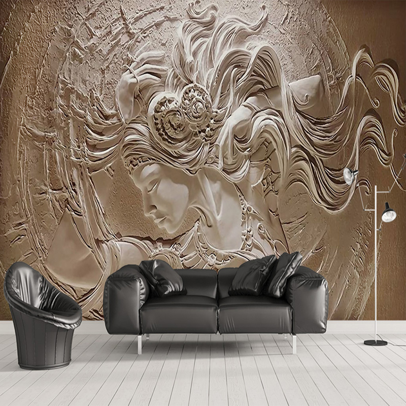 Custom Wallpaper Murals 3D Stereoscopic Beauty Characters Sculpture Photo Wallpaper Living Room Sofa Bedroom Backdrop Wall Mural large yellow marble texture design wallpaper mural painting living room bedroom wallpaper tv backdrop stereoscopic wallpaper